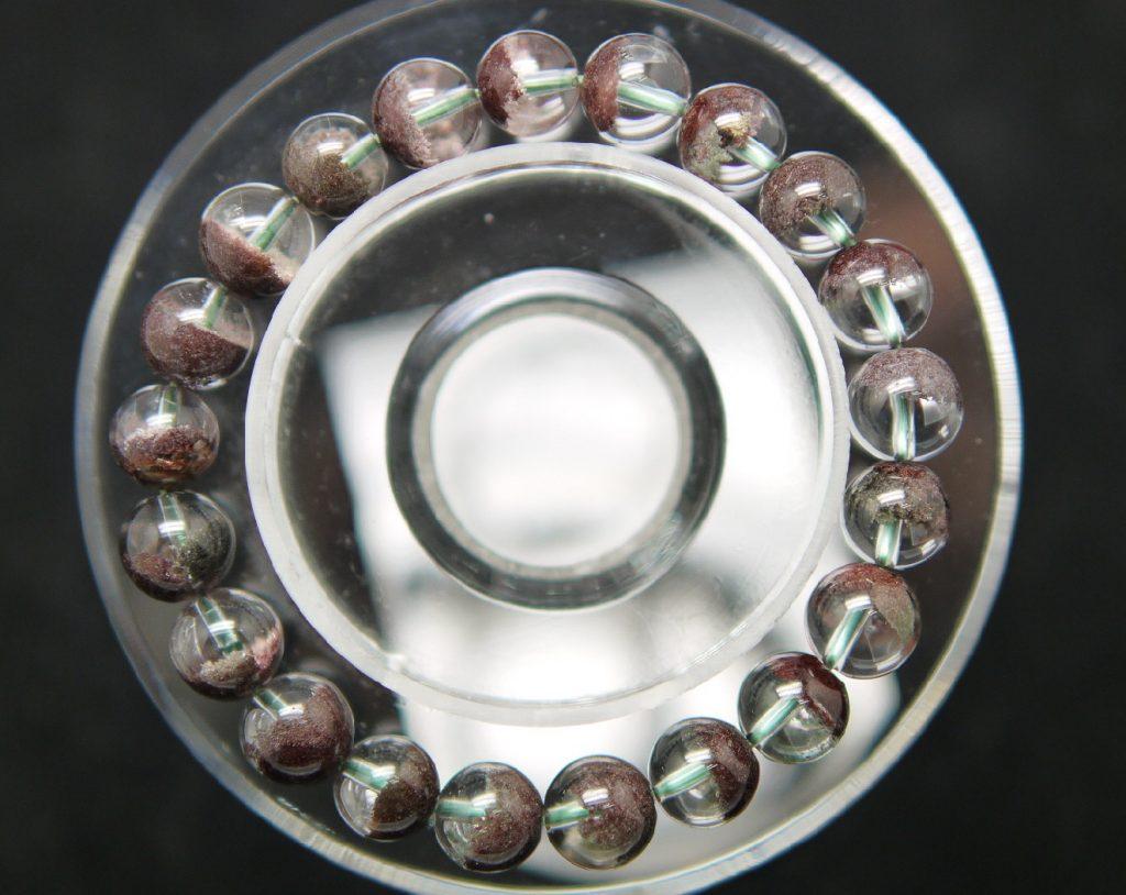 ガーデン水晶10mm玉ブレスレット 超上質