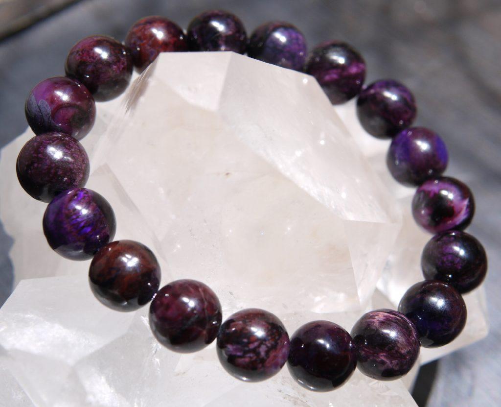 スギライトブレスレット 11mm 濃紫褐色